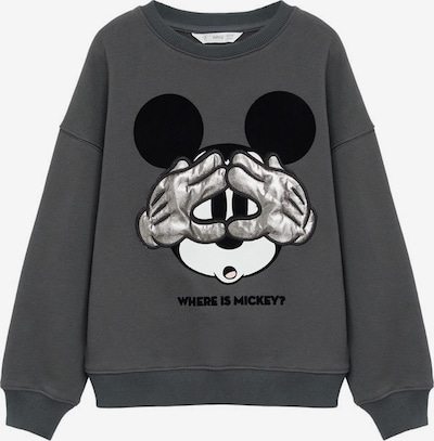 sötétszürke / fekete / fehér MANGO KIDS Tréning póló 'Mickey', Termék nézet