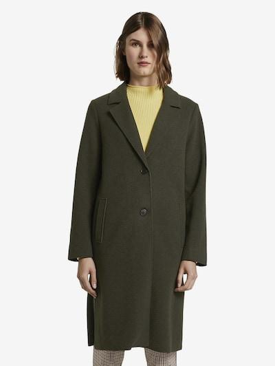 TOM TAILOR Jacken Langer Mantel mit Seitenschlitzen in grün, Modelansicht