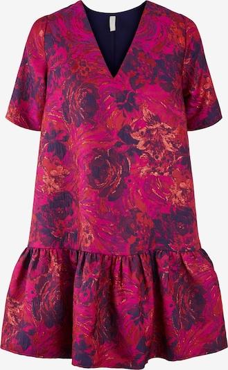 Y.A.S Kleid 'Cille' in beige / dunkellila / fuchsia, Produktansicht