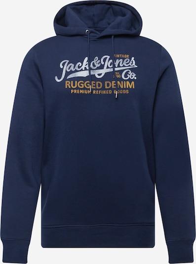 Bluză de molton 'BOOSTER' JACK & JONES pe bleumarin / portocaliu / alb, Vizualizare produs