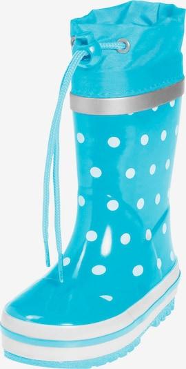 PLAYSHOES Botas de lluvia en turquesa / blanco, Vista del producto