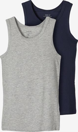 Apatiniai marškinėliai 'TANK' iš NAME IT , spalva - margai pilka / juoda, Prekių apžvalga