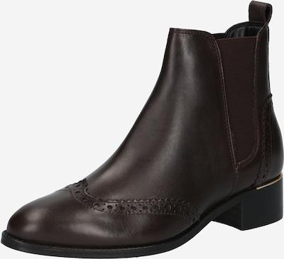 River Island Chelsea Boots en brun foncé, Vue avec produit
