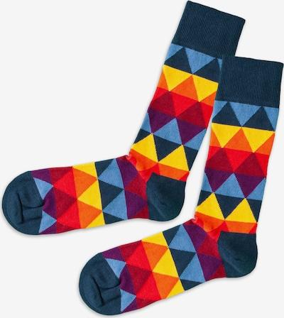 DillySocks Ponožky - modrá / žlutá / tmavě fialová / jasně červená, Produkt