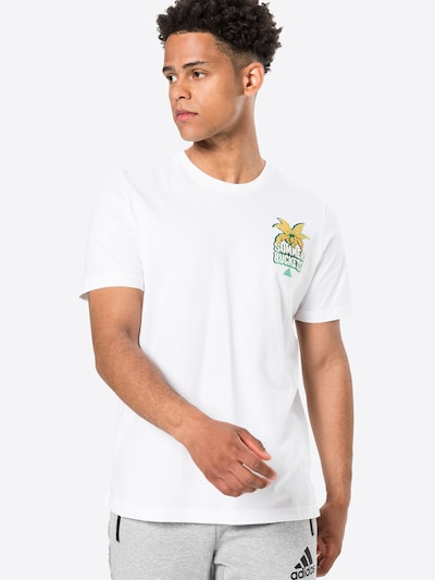 ADIDAS PERFORMANCE Shirt 'SUMMER BCKT' in weiß: Frontalansicht