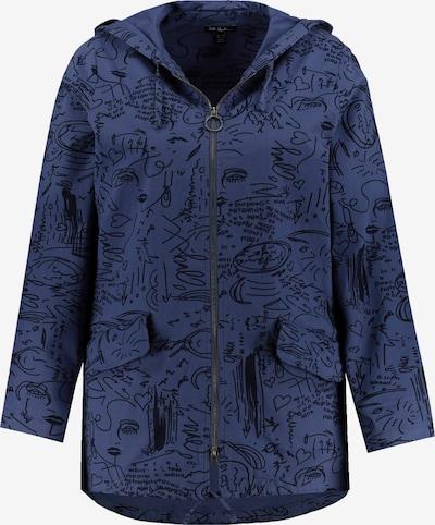 Ulla Popken Tussenjas in de kleur Blauw / Zwart, Productweergave
