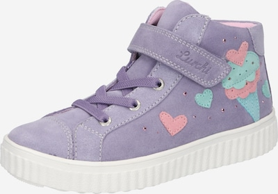 LURCHI Baskets 'YUMMY' en turquoise / violet / rose ancienne, Vue avec produit