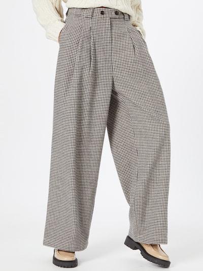 Stella Nova Pantalon à pince 'Eline' en beige / noir, Vue avec modèle