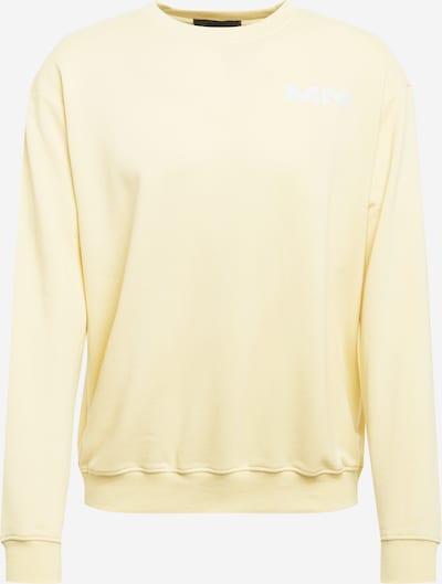 Mennace Sweatshirt 'BREEZE' in hellgelb / weiß, Produktansicht