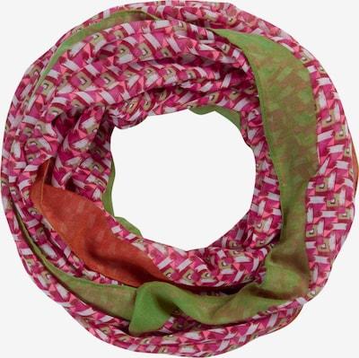 CODELLO Kruhová šála - zelená / tmavě růžová, Produkt