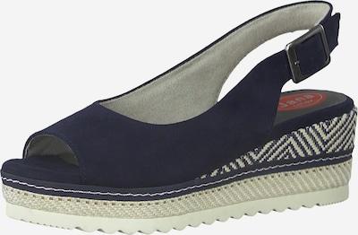 JANA Sandale in nachtblau / weiß, Produktansicht
