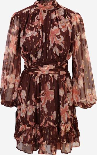 River Island Petite Robe en brun foncé / saumon / blanc, Vue avec produit