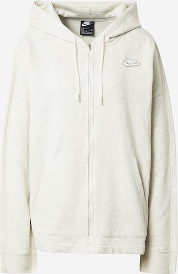 Nike Sportswear Veste de survêtement en blanc chiné, Vue avec produit