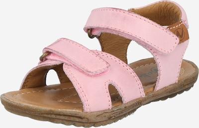 NATURINO Sandale 'SUN' in braun / hellpink, Produktansicht