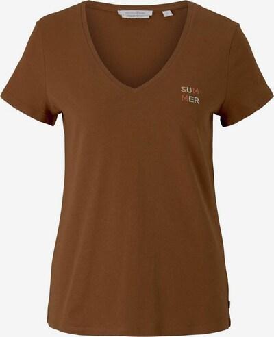 TOM TAILOR DENIM T-Shirt in braun / grau, Produktansicht