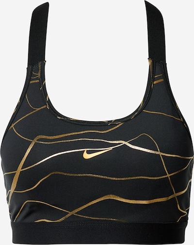 Sportinė liemenėlė 'Nike Swoosh Clash' iš NIKE , spalva - Auksas / juoda, Prekių apžvalga