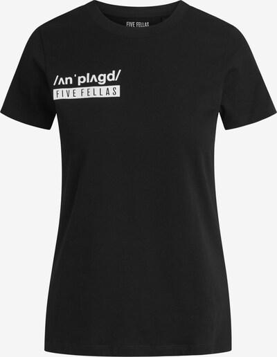 Five Fellas T-shirt 'Chloe' in schwarz / weiß, Produktansicht
