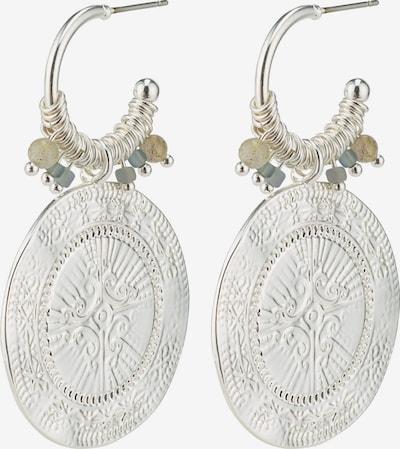 Pilgrim Náušnice - stříbrně šedá / stříbrná, Produkt