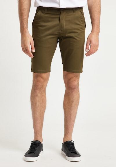 DreiMaster Klassik Pantalon chino en marron, Vue avec modèle