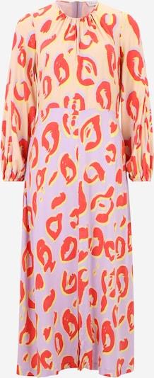 Closet London Robe en jaune / violet / abricot / rouge clair, Vue avec produit
