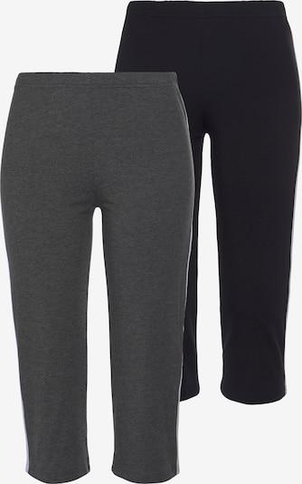 VIVANCE Pants in mottled grey / Black / White, Item view