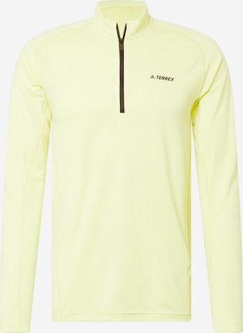 adidas Terrex Funktionsshirt in Gelb
