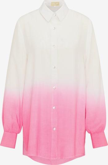 MYMO Hemdbluse in pink / weiß, Produktansicht
