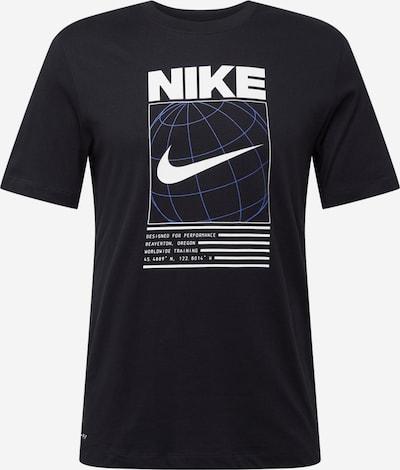 NIKE Sport-Shirt in blau / schwarz / weiß, Produktansicht