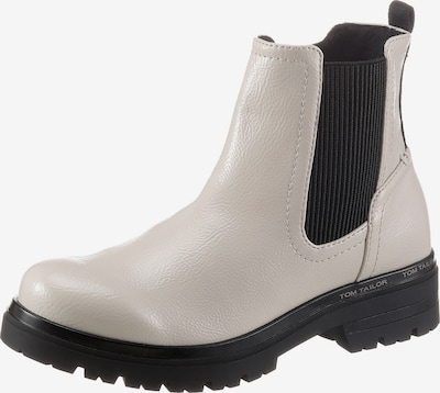 TOM TAILOR Chelsea Boots in Cream / Navy, Item view