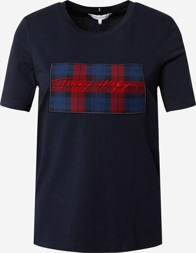 TOMMY HILFIGER Skjorte i mørkeblå / rød: Frontvisning
