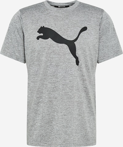 PUMA Funktionsshirt 'HEATHER CAT' in graumeliert / schwarz, Produktansicht