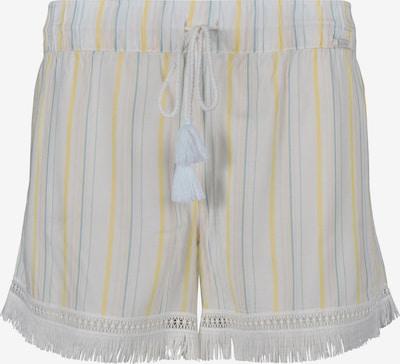 Skiny Pyjamabroek 'Festival Vibe' in de kleur Smoky blue / Pasteelgeel / Wit, Productweergave