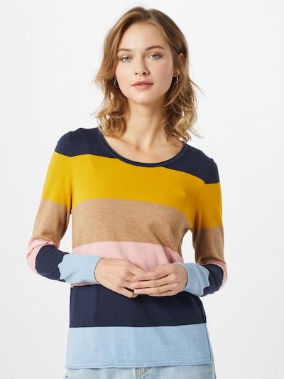 EDC BY ESPRIT Pullover in navy / gelb / rosa, Modelansicht