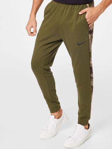 NIKE Спортен панталон в зелено