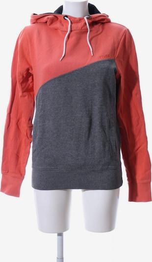 TOM TAILOR DENIM Kapuzensweatshirt in S in hellgrau / rot, Produktansicht