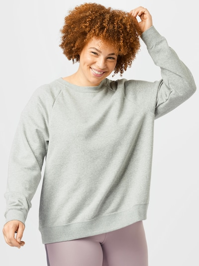Nike Sportswear Sweat-shirt en gris clair / blanc: Vue de face