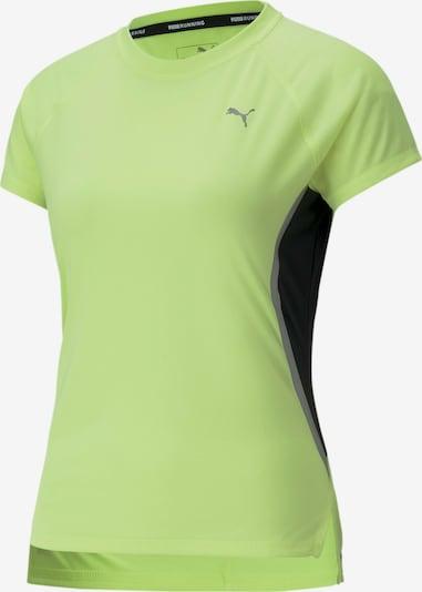 PUMA Functioneel shirt 'Lite Laser Cat' in de kleur Neongeel / Grijs / Zwart, Productweergave