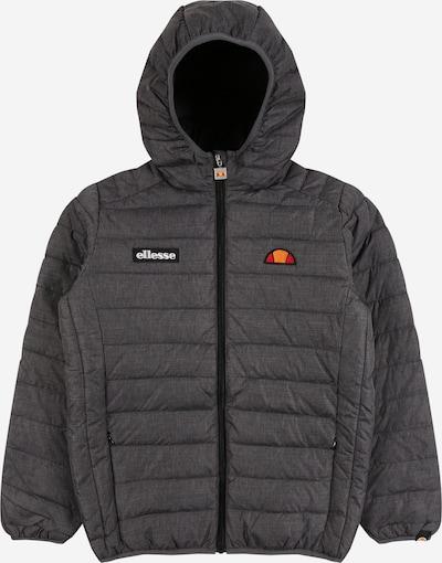 ELLESSE Jacke 'Regalio' in dunkelgrau / orange / orangerot / schwarz / weiß, Produktansicht