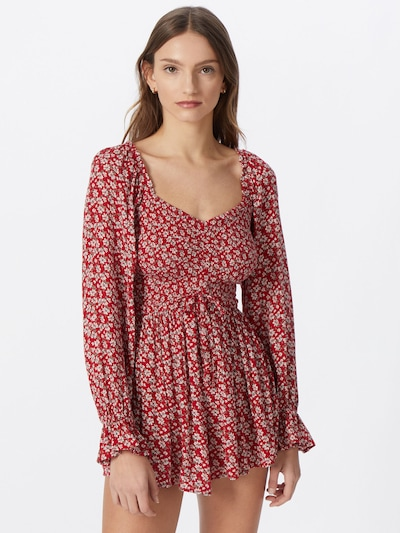 HOLLISTER Jumpsuit in grey / pink / red / white, View model
