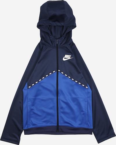 Nike Sportswear Veste de survêtement 'Poly' en bleu nuit / bleu roi / blanc, Vue avec produit