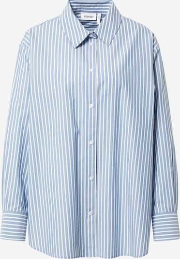 WEEKDAY Блуза 'Edyn' в светлосиньо / бяло, Преглед на продукта