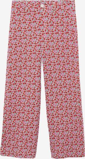MANGO Панталон 'Simone' в екрю / розово / червено / бяло, Преглед на продукта