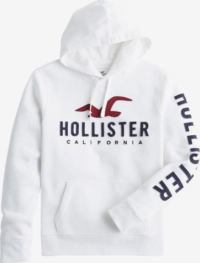 HOLLISTER Sweater majica u merlot / crna / bijela, Pregled proizvoda