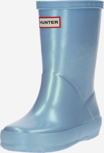 HUNTER Stiefel in hellblau / rot / schwarz / weiß, Produktansicht