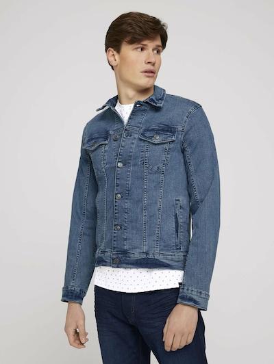 TOM TAILOR Prehodna jakna | moder denim barva, Prikaz modela