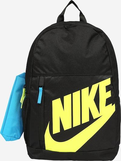 Nike Sportswear Rucksack in hellblau / gelb / schwarz, Produktansicht