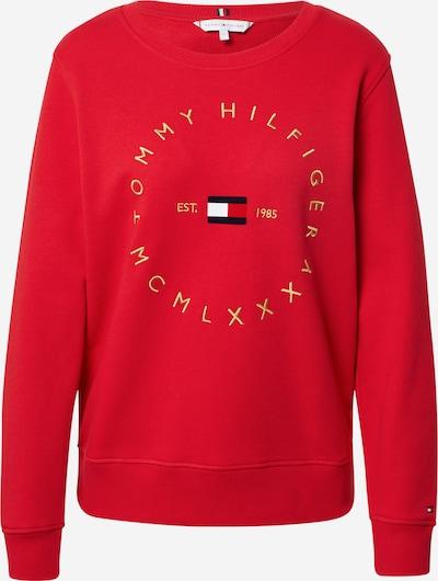 TOMMY HILFIGER Sweat-shirt en jaune d'or / rouge / noir / blanc, Vue avec produit