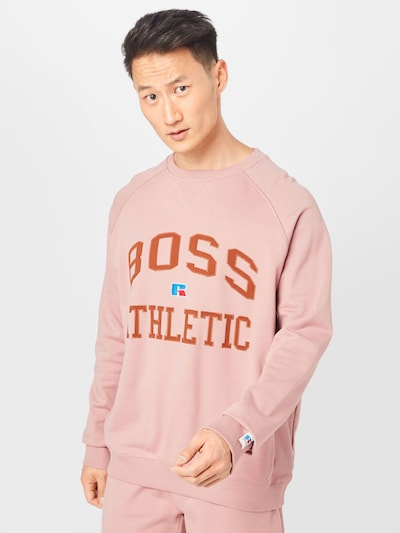 BOSS Casual Sweatshirt 'Stedman Russell Athletic' in pink: Frontalansicht