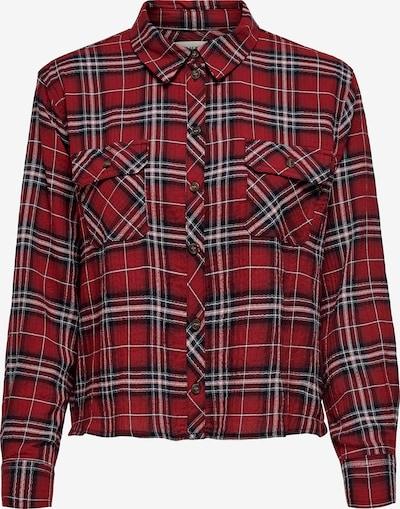 ONLY Blusa 'SANDRA' en rojo rubí / rojo oscuro / negro / blanco, Vista del producto