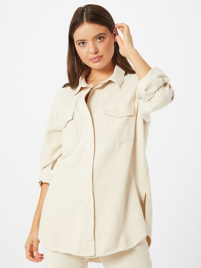 Missguided Hemd in beige, Modelansicht